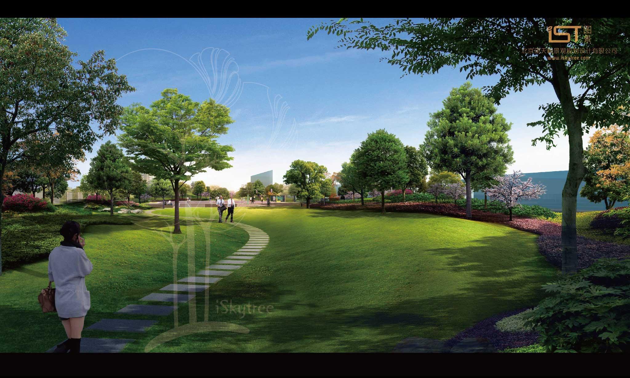 湘赣大码头节点景观设计方案效果表现