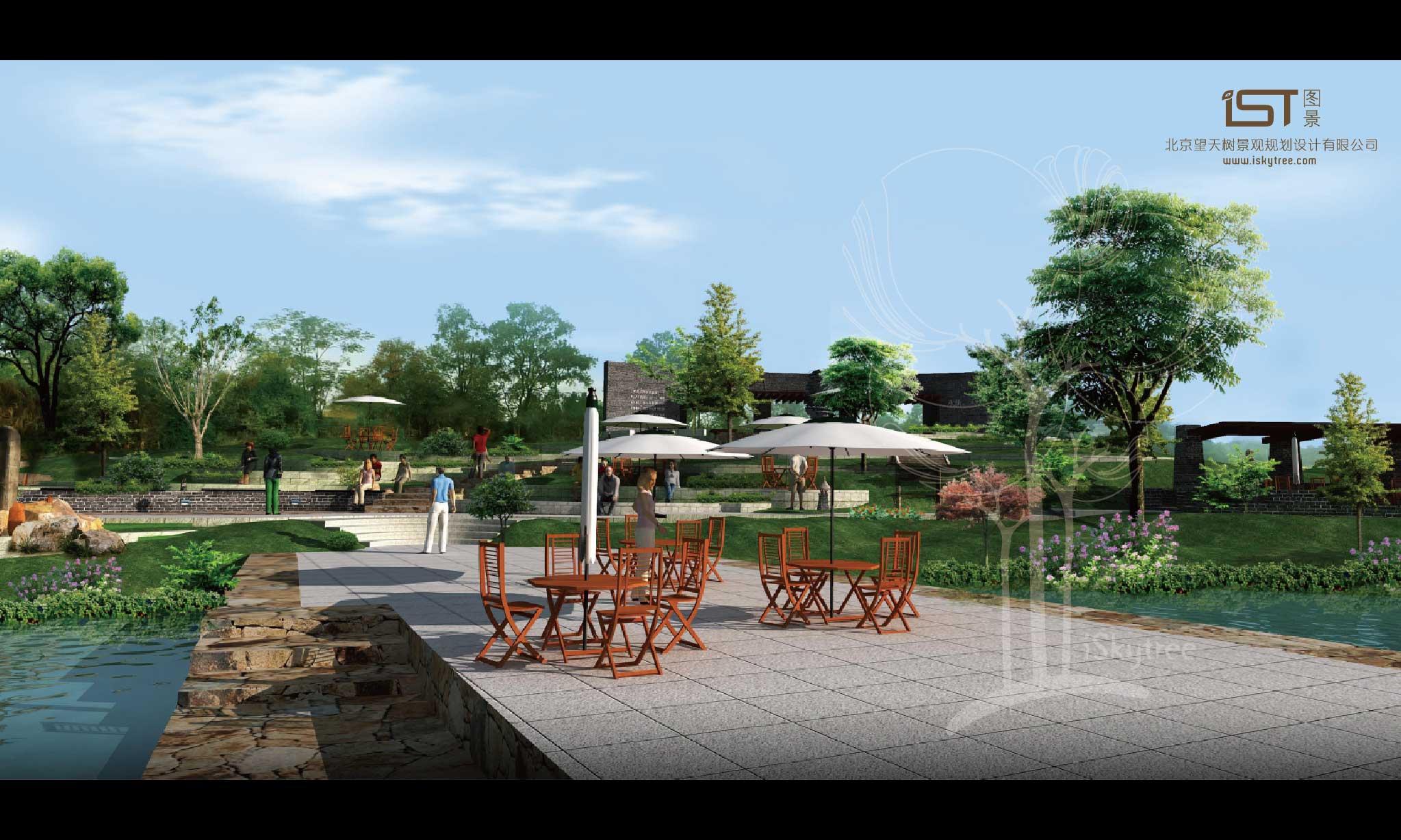 湿地景观节点设计方案效果表现