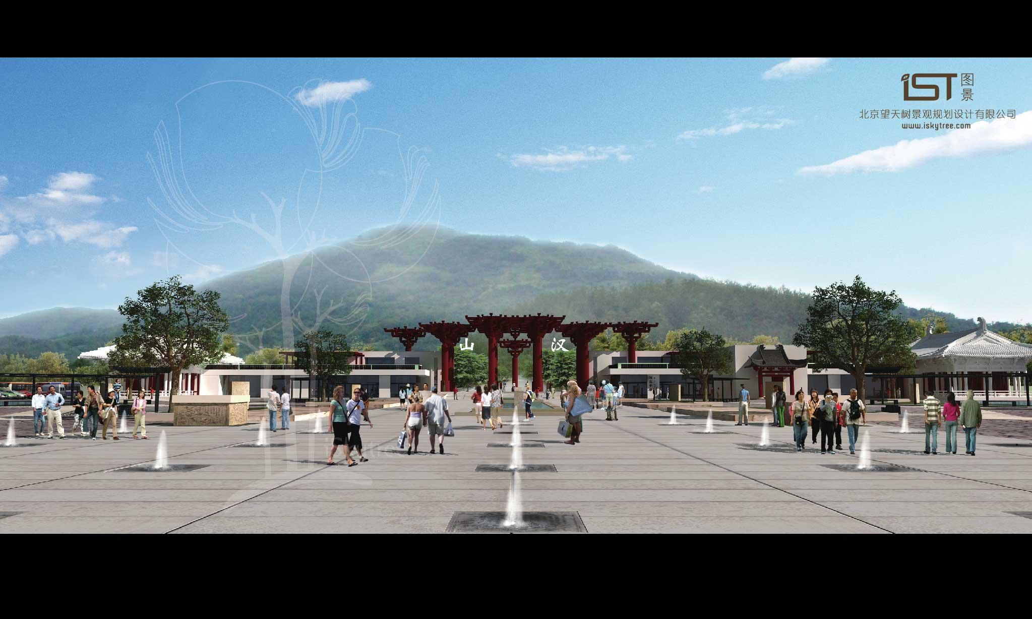 南湖孔明灯广场(景区主入口广场方案二)设计方案效果