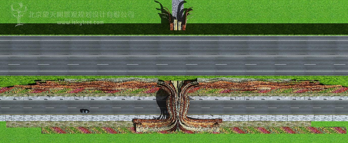 丹霞景区入口大门设计方案平面布局图