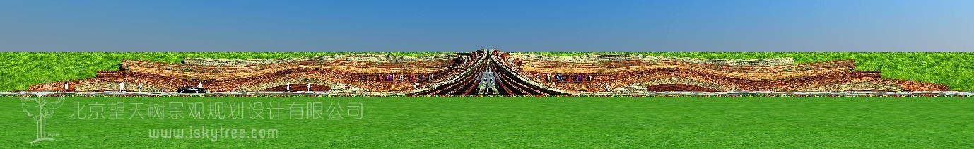 丹霞景区入口大门设计方案立面图