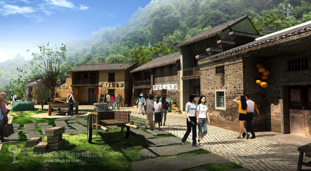 红色旅游建筑景观景片设计施工