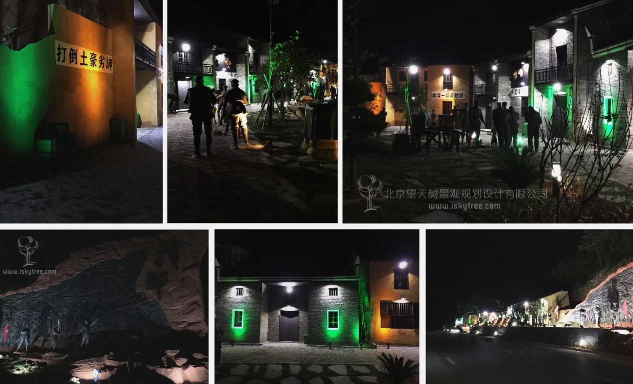 红色文化主题红军雕塑设计制作施工夜景