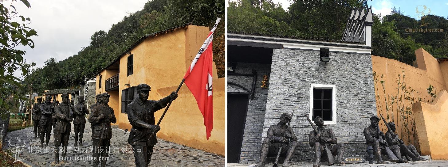 红军革命场景设计施工案例