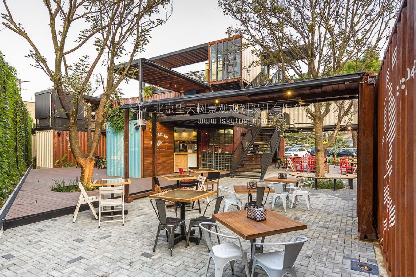 集装箱露天餐厅室外空间景观设计