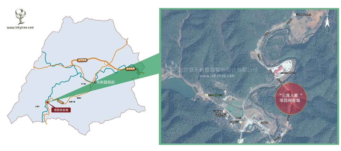 """永新县""""三湾人家""""乡村qy188千赢国际规划区位图"""