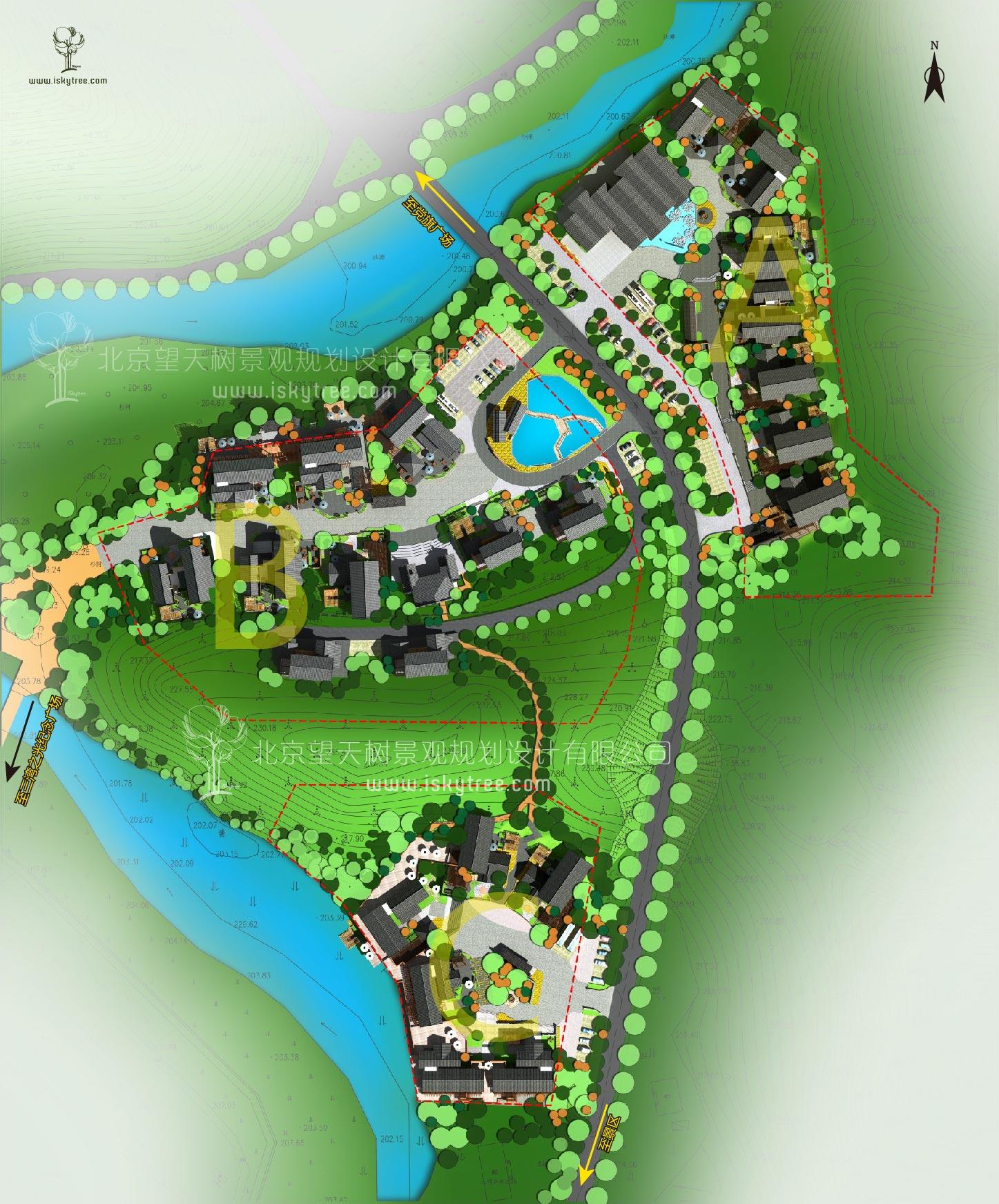 休闲乡村qy188千赢国际总体规划设计空间布局图