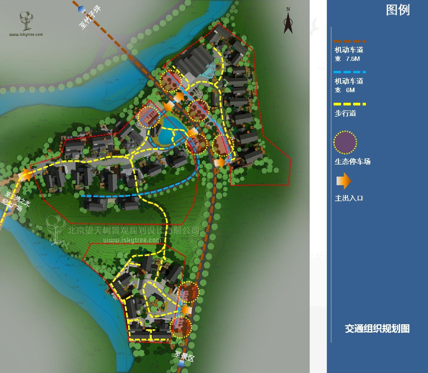 特色小镇新农村交通道路规划设计图