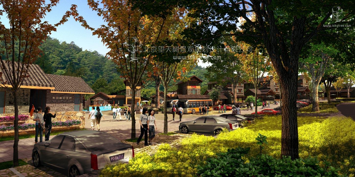 新农村城镇化建筑景观设计方案效果表现图