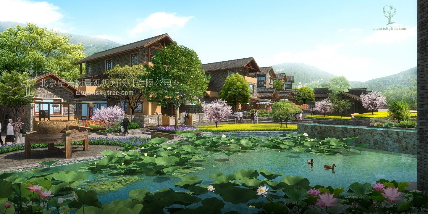 滨水休闲民宿建筑景观设计方案
