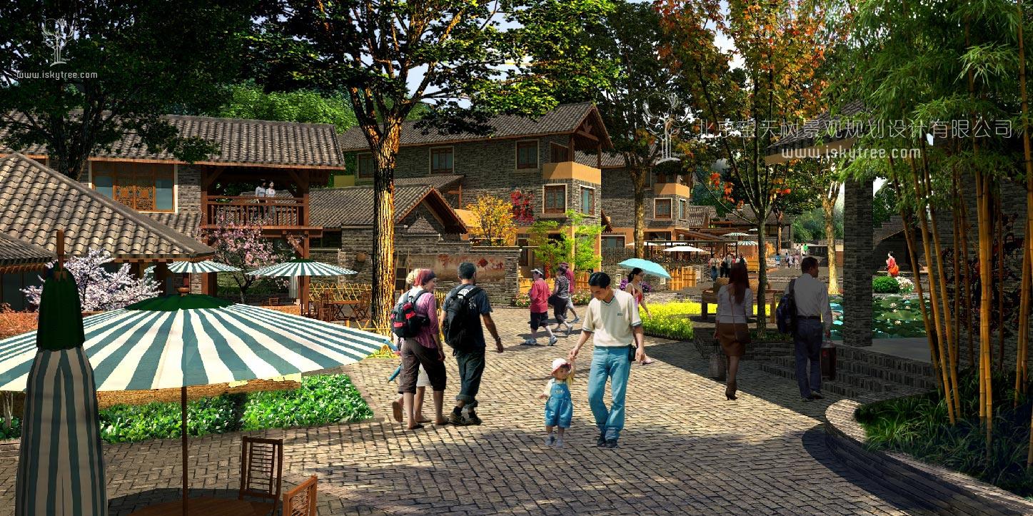 qy188千赢国际小镇休闲商业街区建筑景观设计