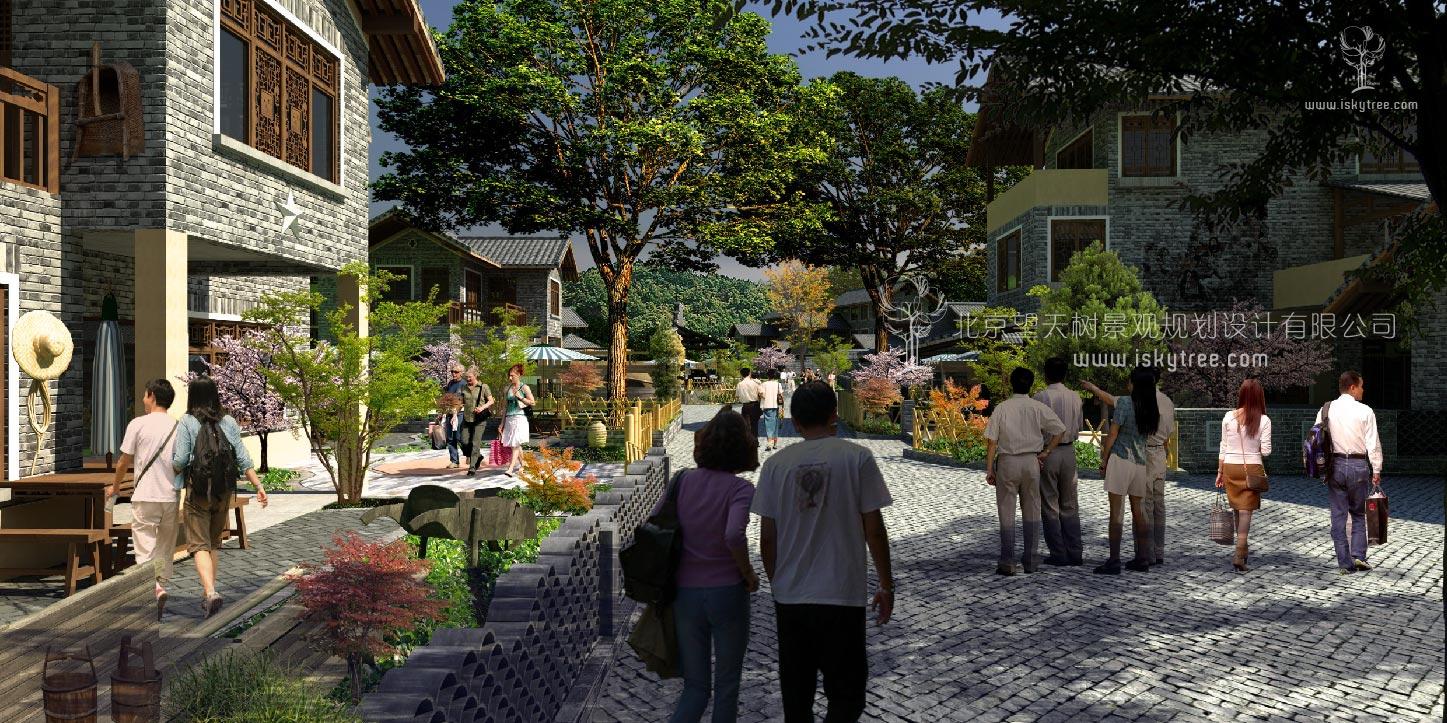 红色qy188千赢国际精准扶贫乡村民居改造建筑景观设计方案