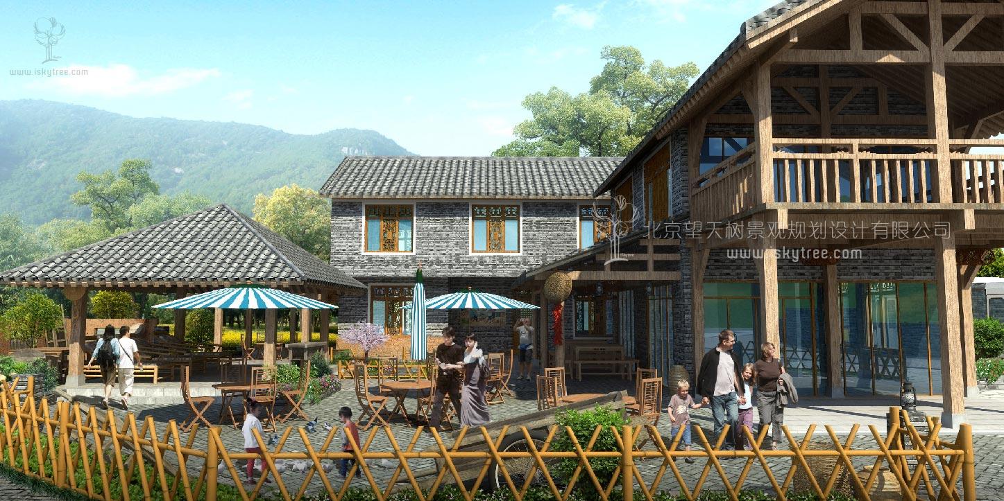 现代混搭新型农家乐改造建筑景观设计案例