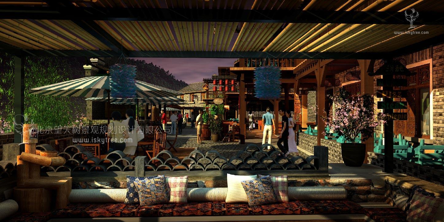 休闲民俗酒吧美食街规划建筑景观设计方案