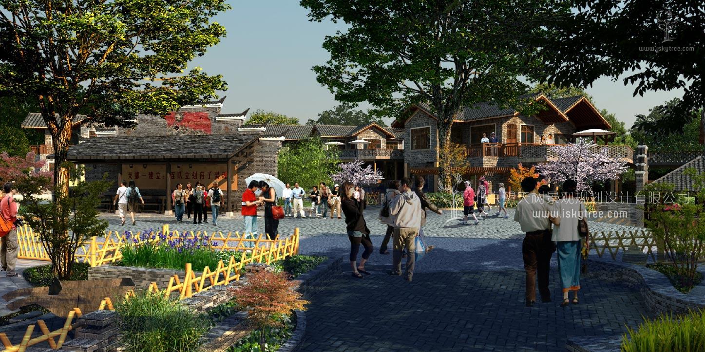 民俗风情街区建筑景观设计案例