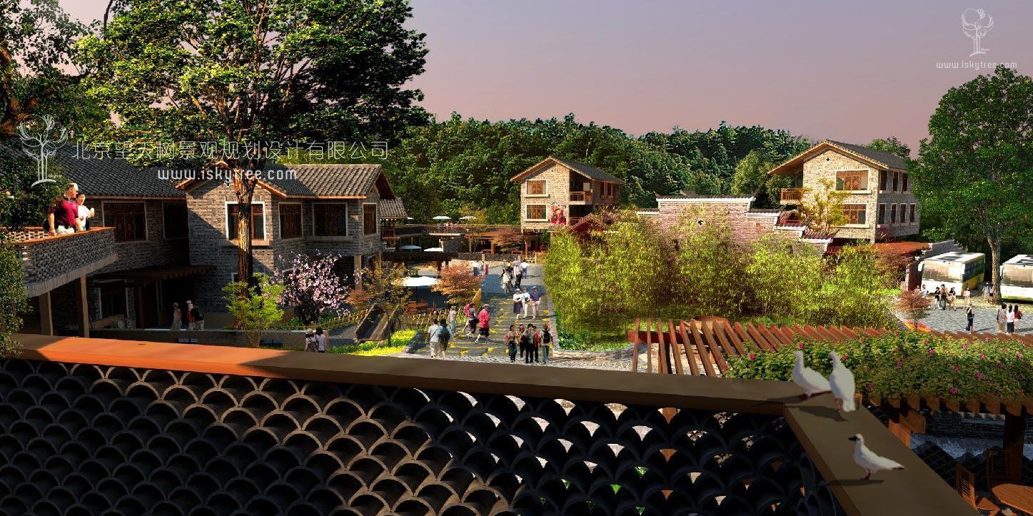 特色自建农家乐建筑景观设计全套方案图纸