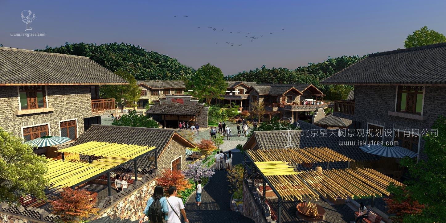 滨水休闲农家乐乡村qy188千赢国际建筑景观设计方案
