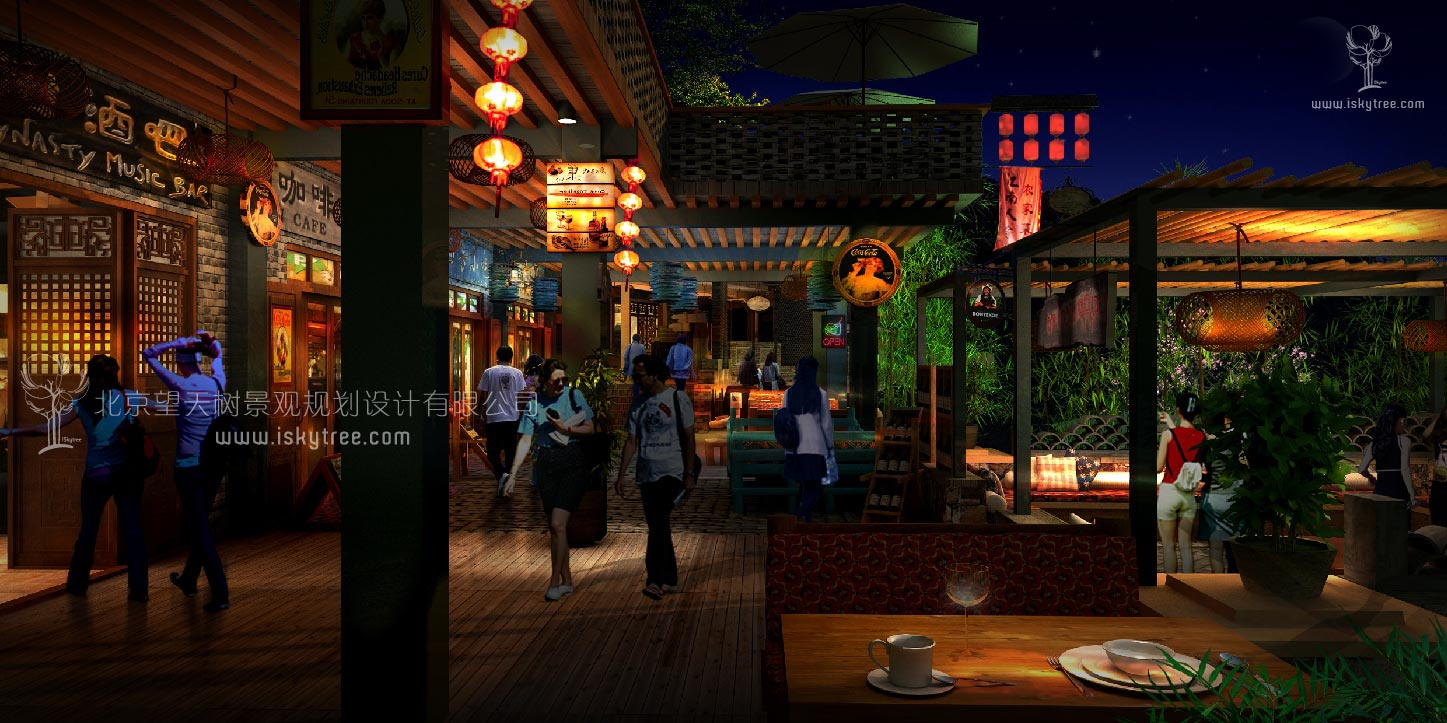 民俗休闲商业街业态夜游建筑景观规划设计