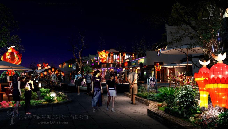 彩灯特色小镇建筑景观规划设计成功案例