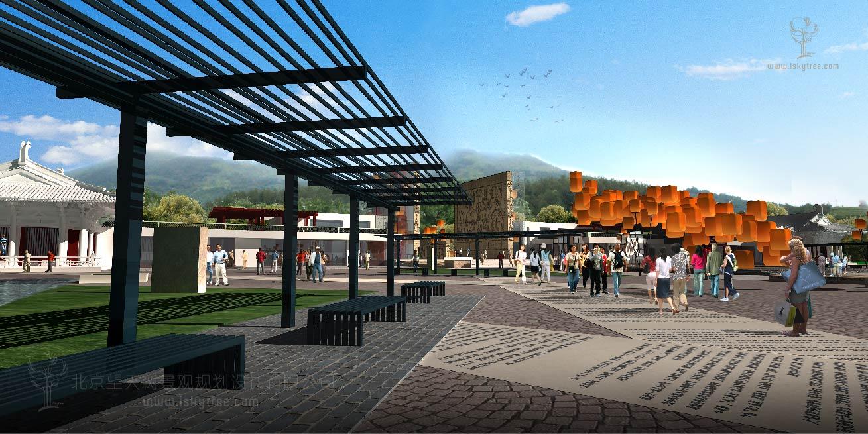 特色小镇广场主入口大门建筑景观规划设计方案