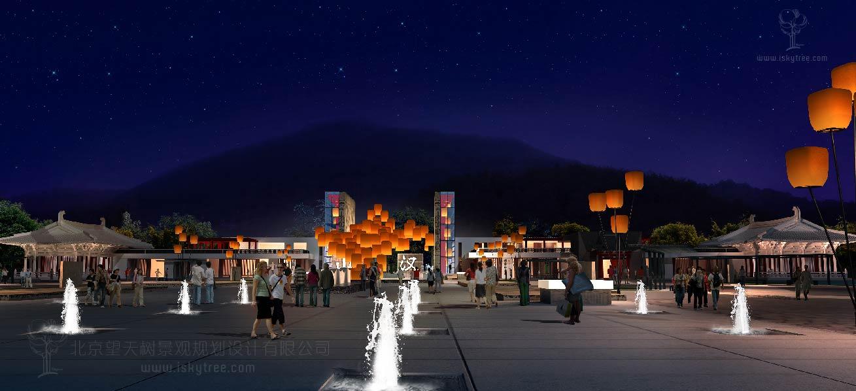 特色小镇夜景建筑景观规划设计方案案例