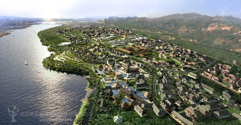 民俗特色小镇建筑景观规划设计案例模式