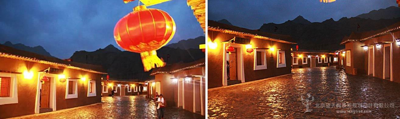 南长滩党项民俗文化街夜景