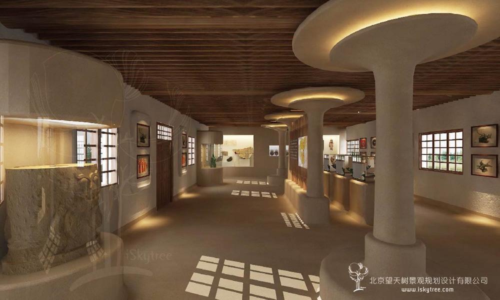 党项民俗展览馆博物馆建筑景观装修设计