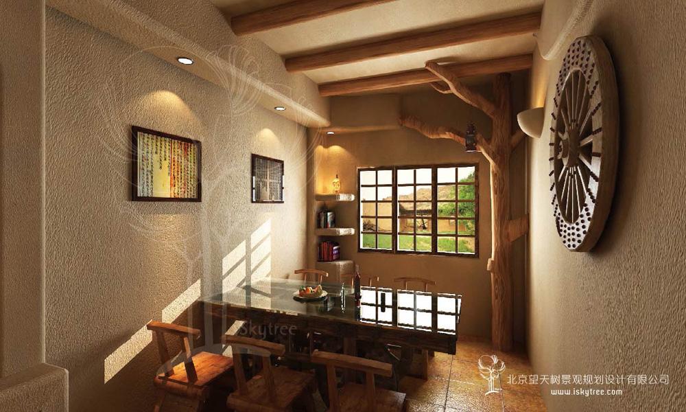 西部风格主题餐厅包间装修设计