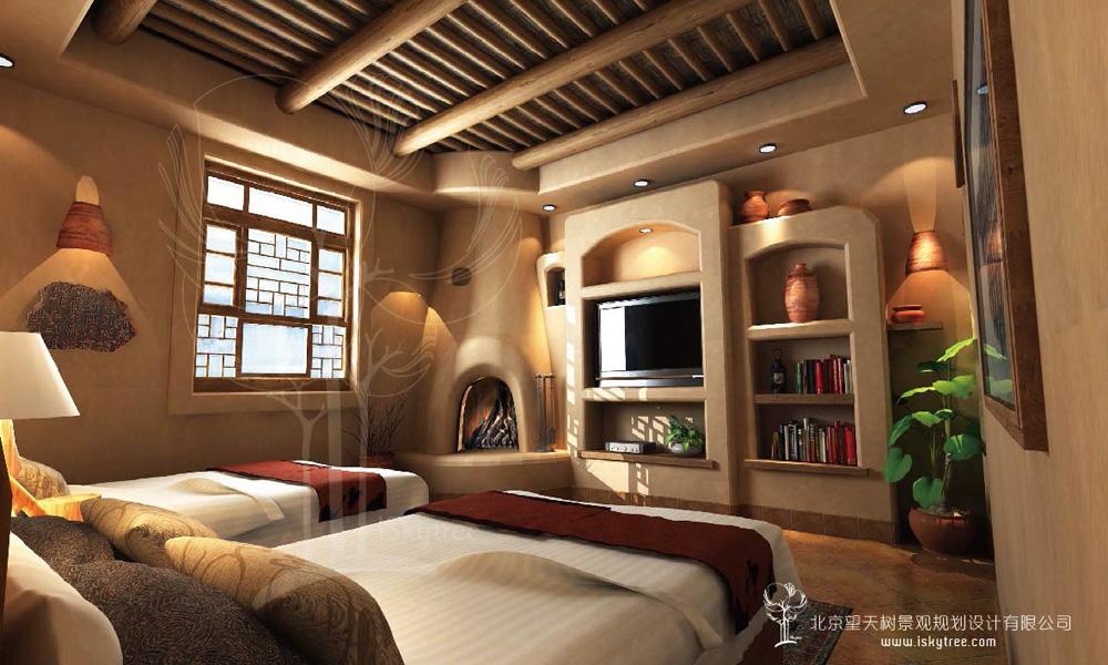 西北风情精品酒店套房客房设计