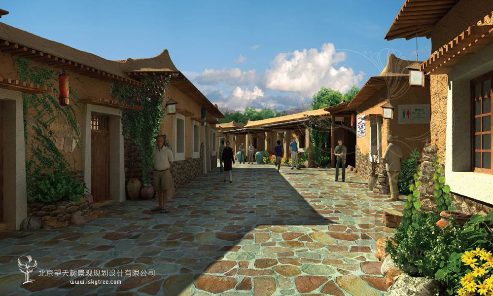 党项民俗文化街建筑景观设计