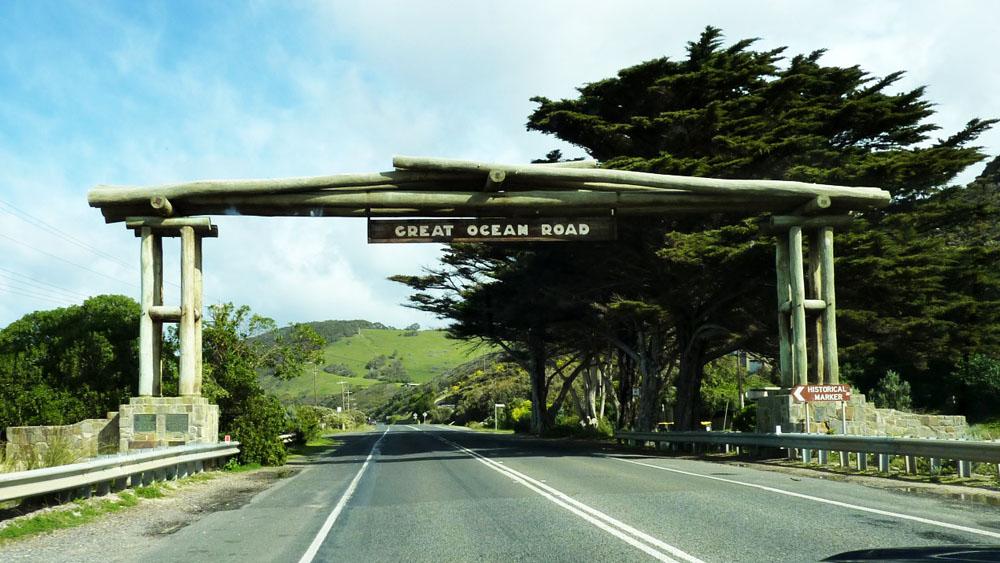 澳大利亚墨尔本大洋路入口大门景观 Great Ocean Road