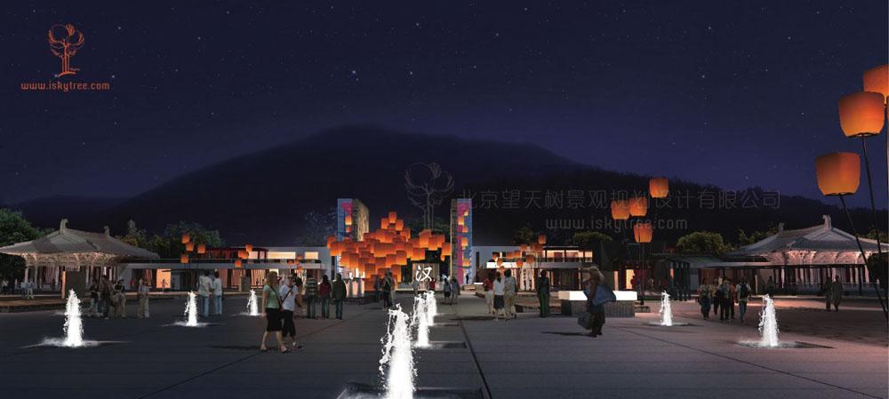 陕西南郑县汉山qy188千赢国际景区前大门设计