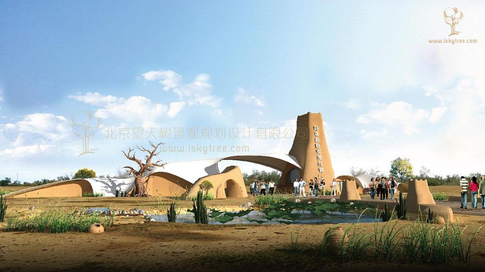新疆克拉玛依·玛依格勒荒漠景区大门设计方案