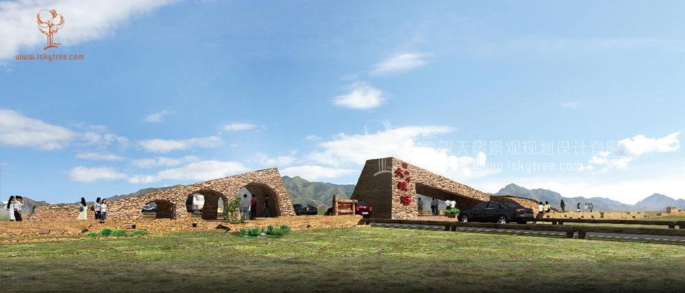 新疆克拉玛依·独山子大峡谷景区大门设计方案