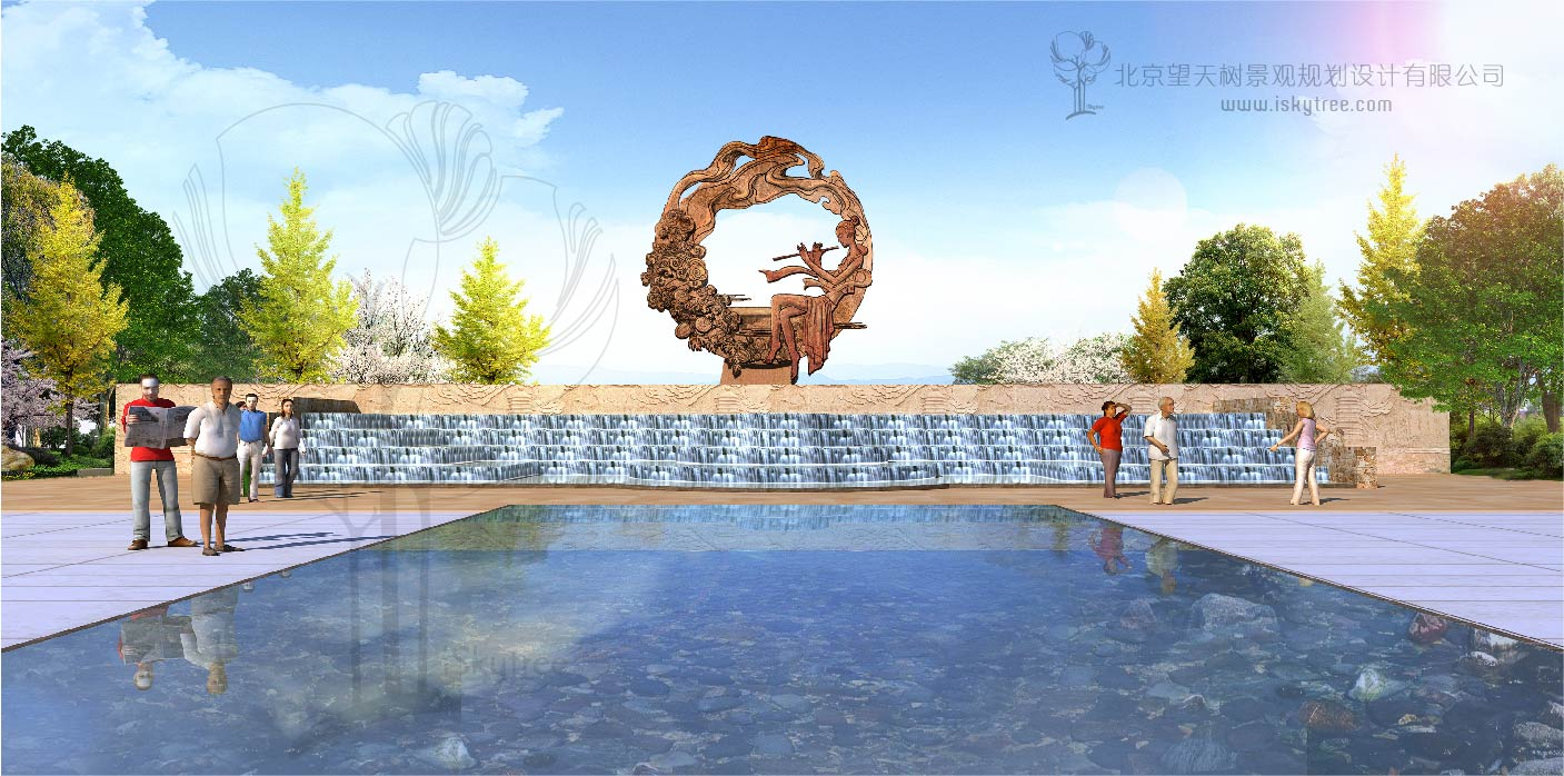 """北京67""""百花仙子""""主题雕塑设计与施工-北京望天树"""
