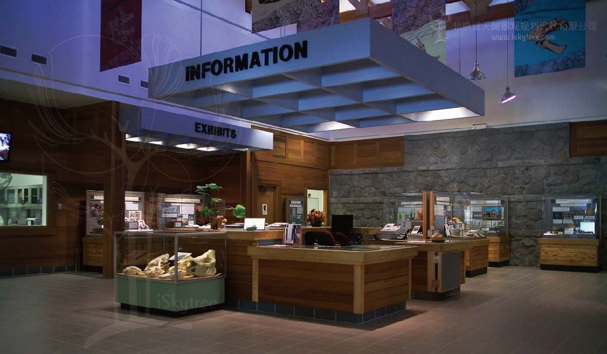 游客中心室内展厅设计