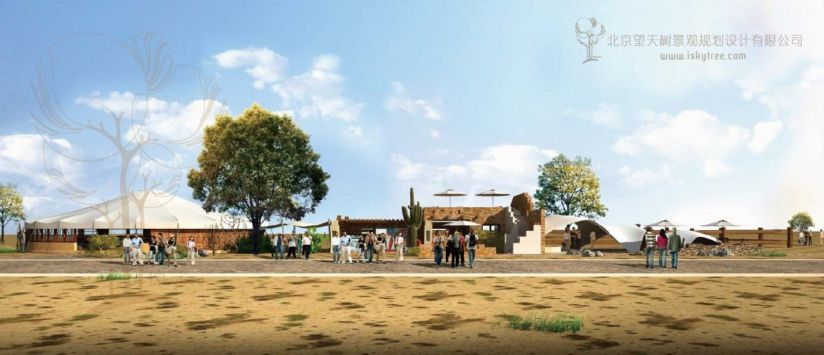 玛依格勒荒漠景区游客接待中心设计