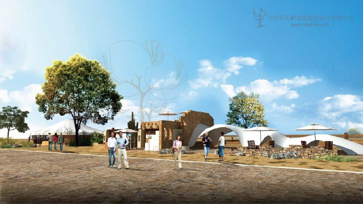 玛依格勒荒漠景区游客接待中心建筑景观设计