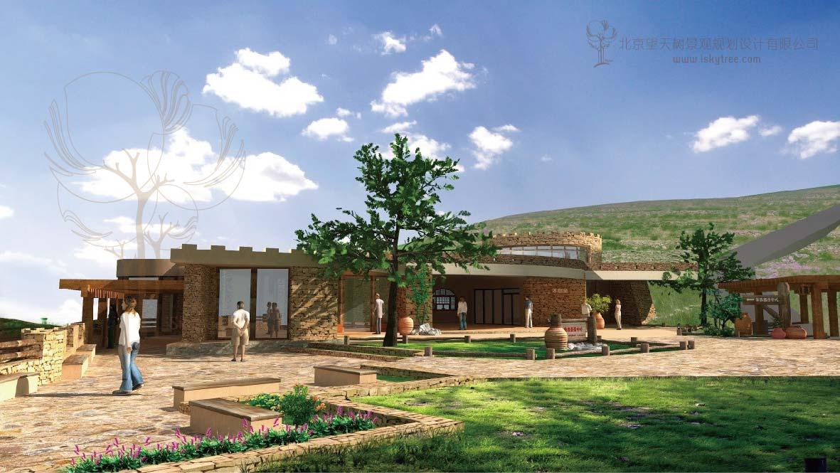 内蒙古包子塔景区 游客接待中心设计