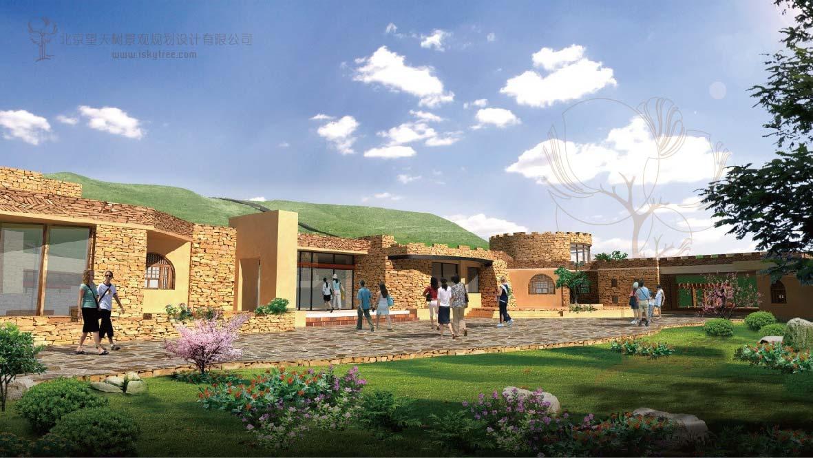内蒙古包子塔景区 游客接待中心建筑景观设计