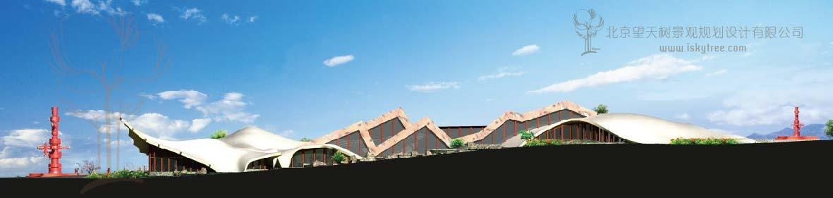 独山子自驾车房车露营地 游客接待中心建筑景观设计