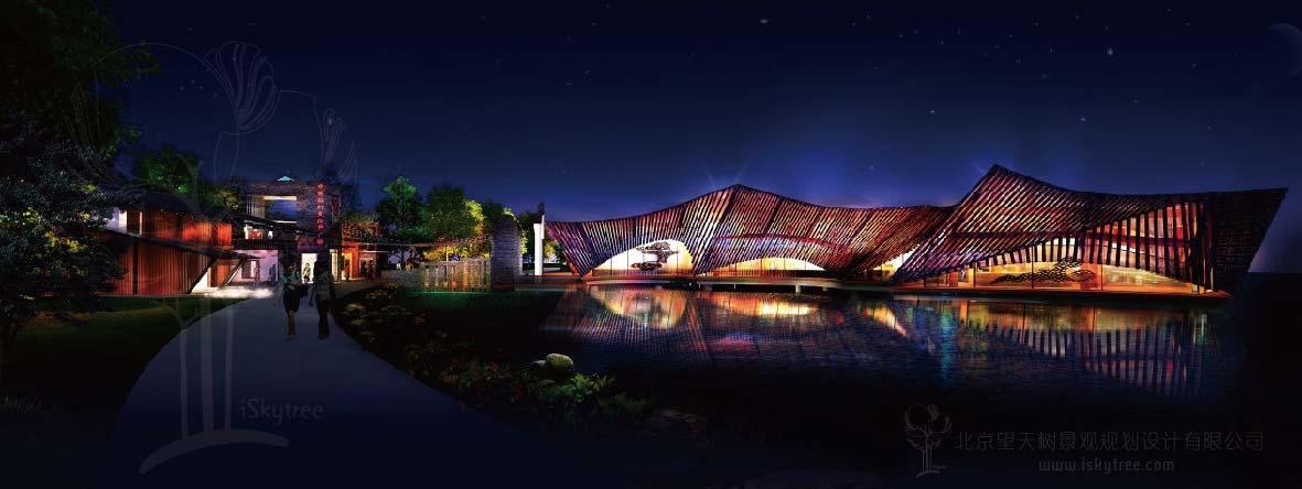 文化产业园游客中心建筑景观设计