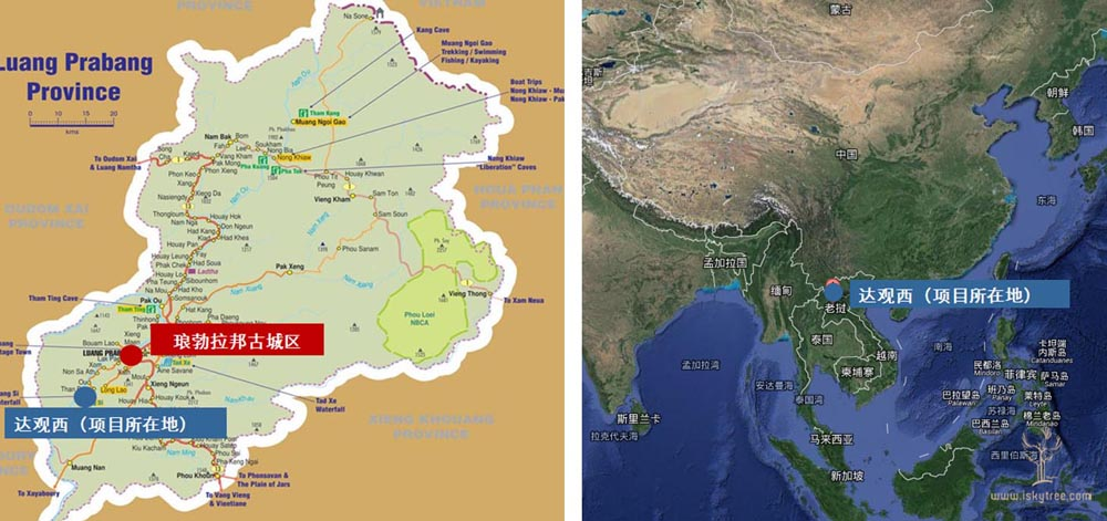 琅勃拉邦项目区位