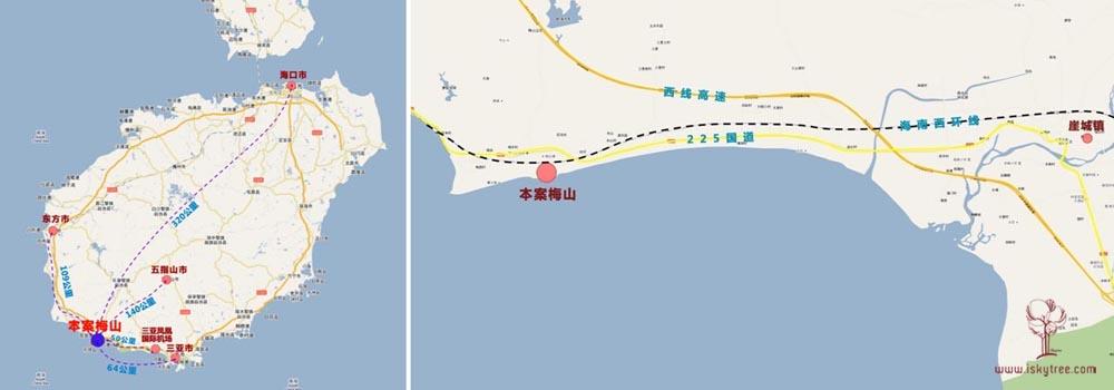 海南省三亚市崖城镇梅东村项目区位图片