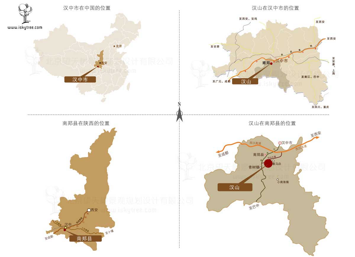 汉山项目交通区位