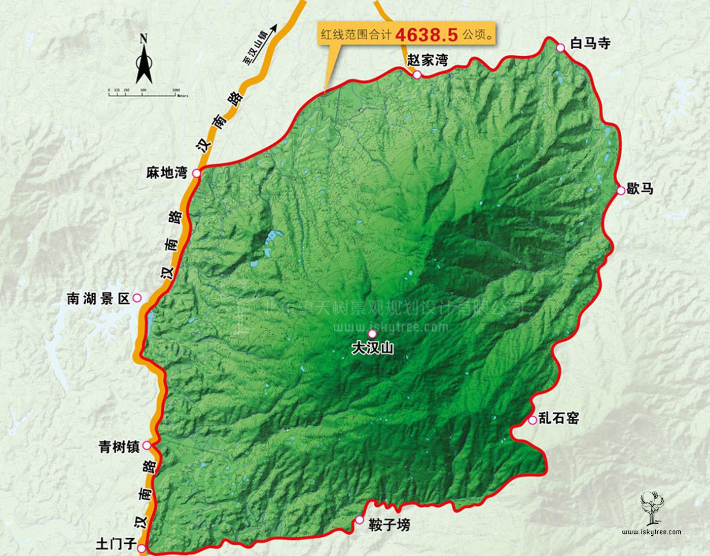 天汉水城qy188千赢国际区汉山片区策划范围