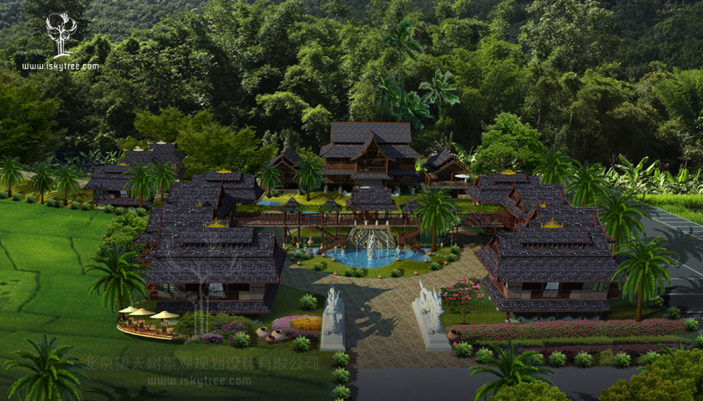 傣式建筑景观设计