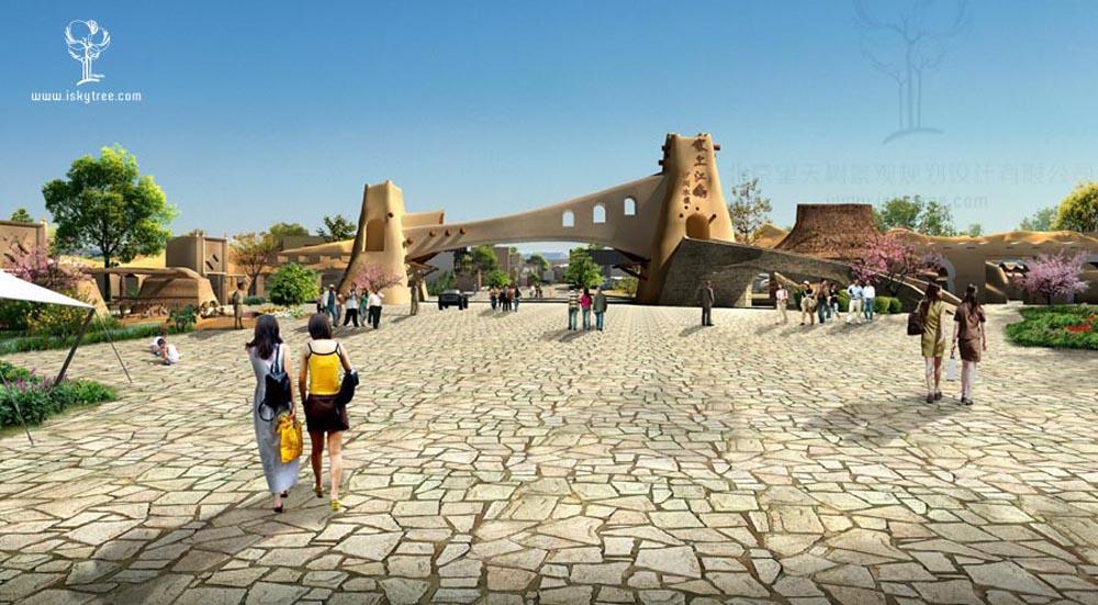 宁夏沙湖风情小镇景区大门设计