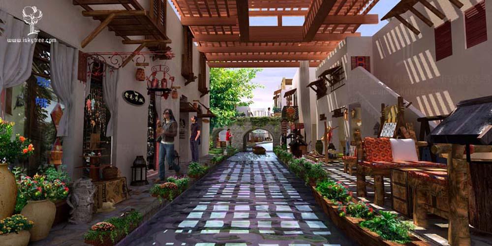 沙湖水镇休闲商业街设计